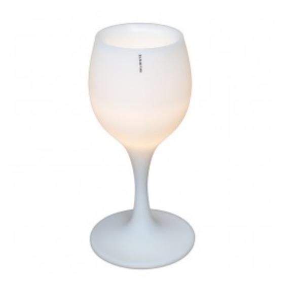 Wijnkoeler met led verlichting. Kan voor gebruik worden opgeladen en snoerloos in de tuin staan.
