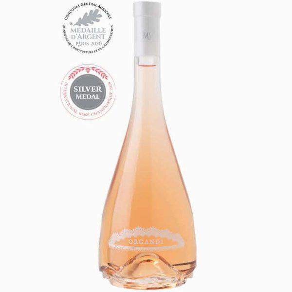 Magnum fles rose van Organdi, super voor elk tuinfeest
