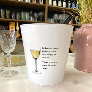 Wijnkoeler met tekst